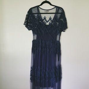 ASOS mesh/lace maxi dress